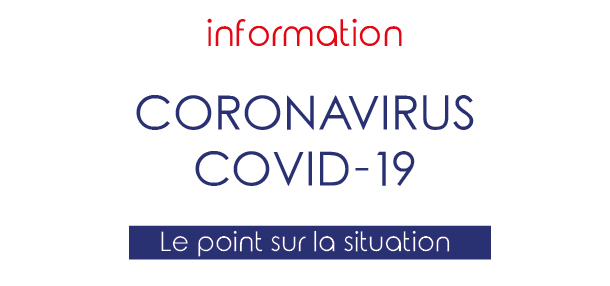 Coronavirus - Covid 19 : Point sur la situation